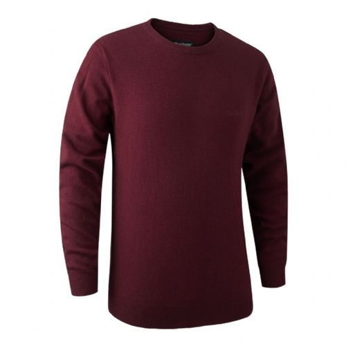 Deerhunter Brighton  Round Neck Pullover: Red Mix